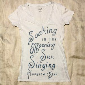 Aerie XS Graphic Light Blue Tee
